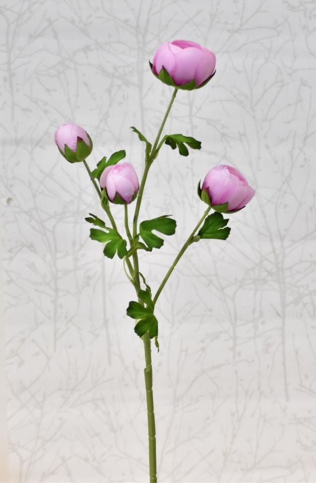 Umělá kamélie růžová, 68 cm