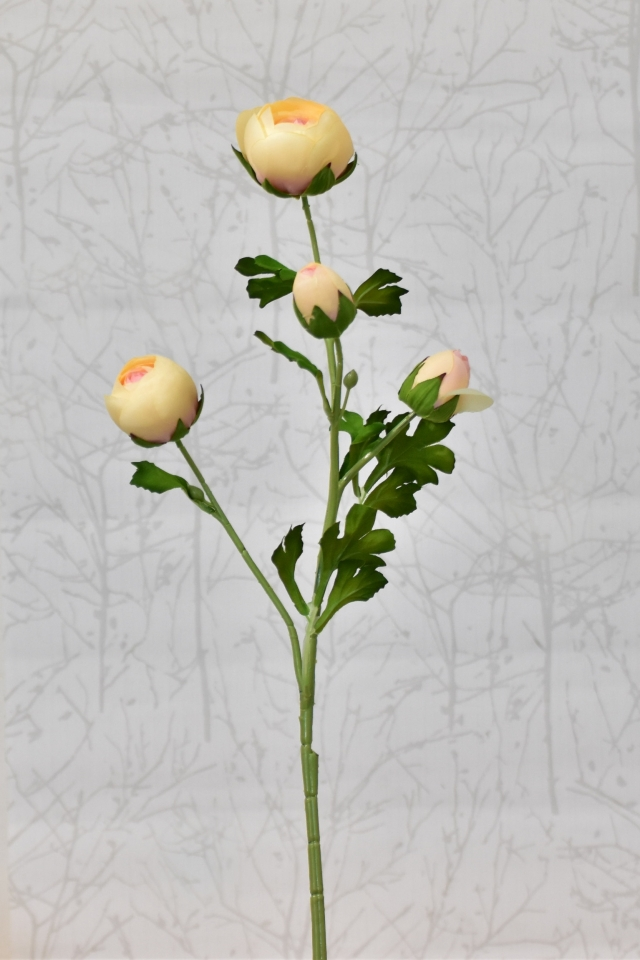 Umělá kamélie broskvová, 68 cm