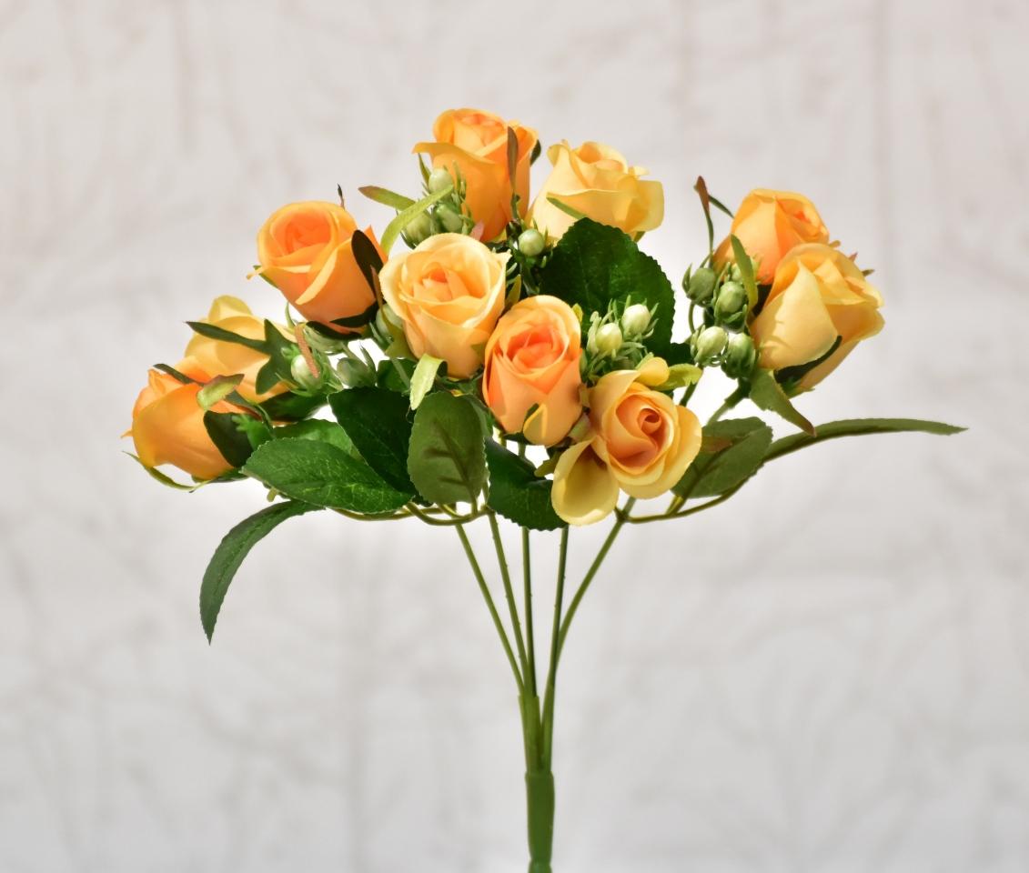 Kytička růží oranžová, 30 cm