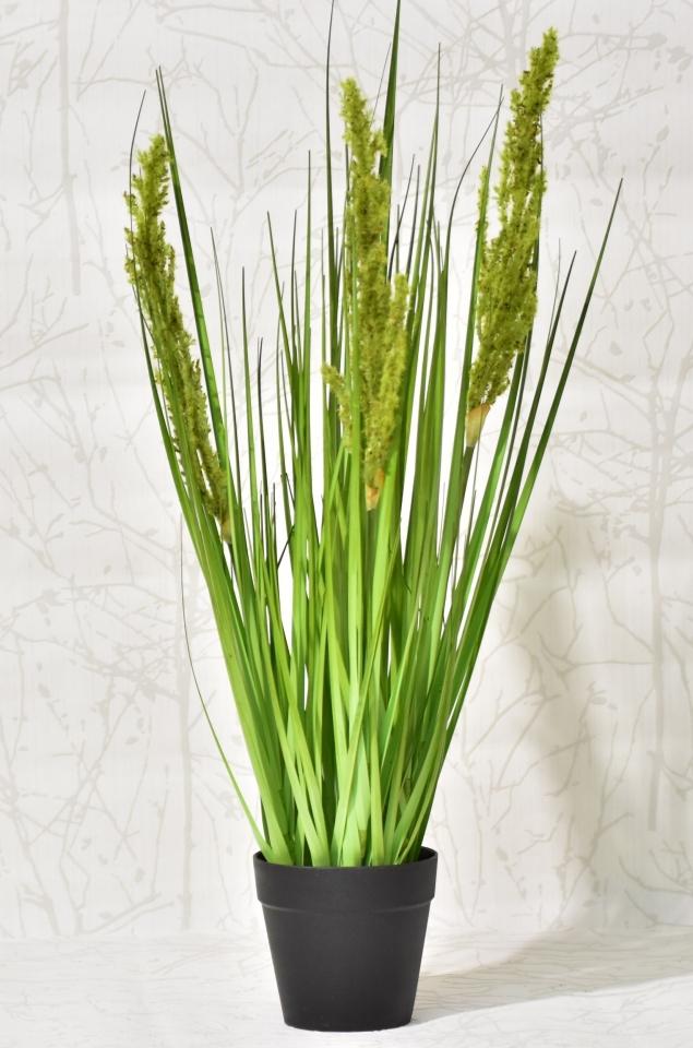 Dekorativní tráva v květináči 53 cm