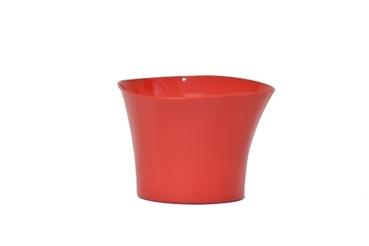 Plastový květináč Primulka červený
