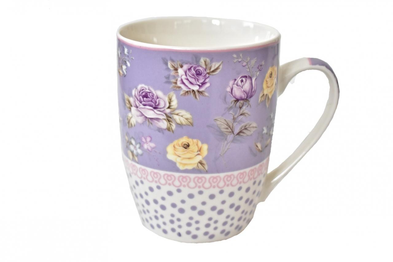 Hrnek Roses - violet 350 ml