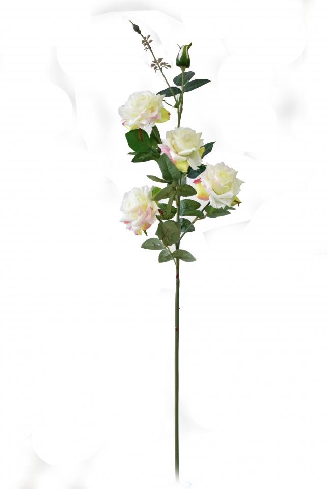 Umělá růže bílá 90 cm