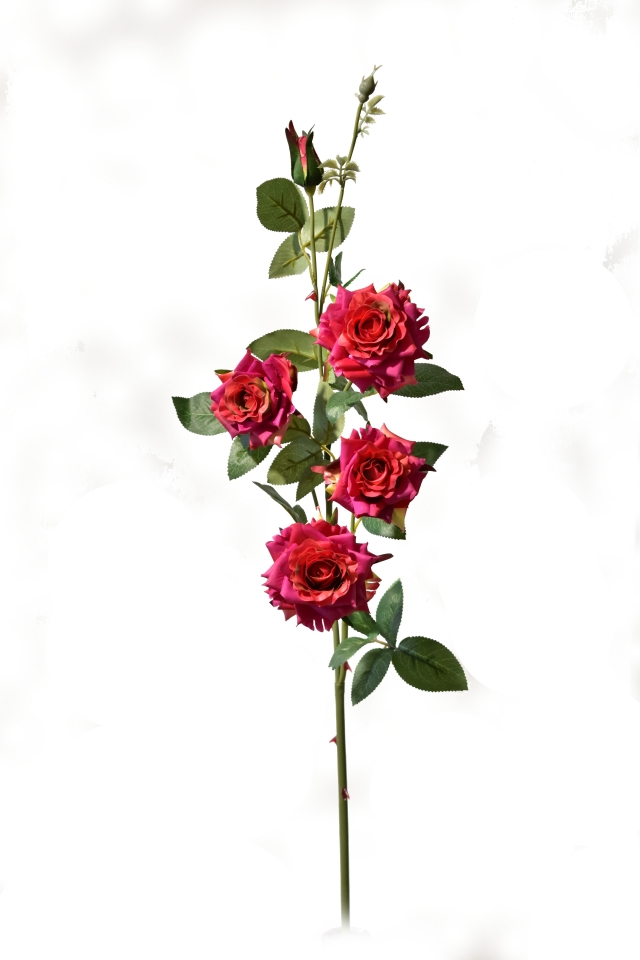 Umělá růže tmavě růžová 90 cm