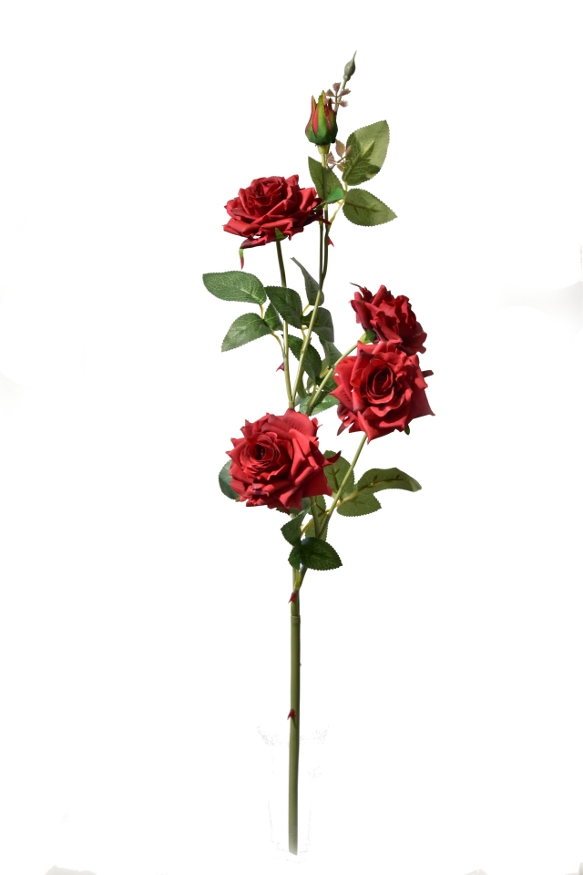 Umělá růže bordó 90 cm