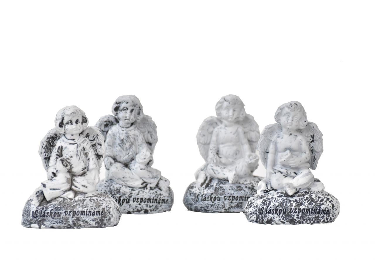 Barokní anděl na kameni S láskou vzpomínáme mix