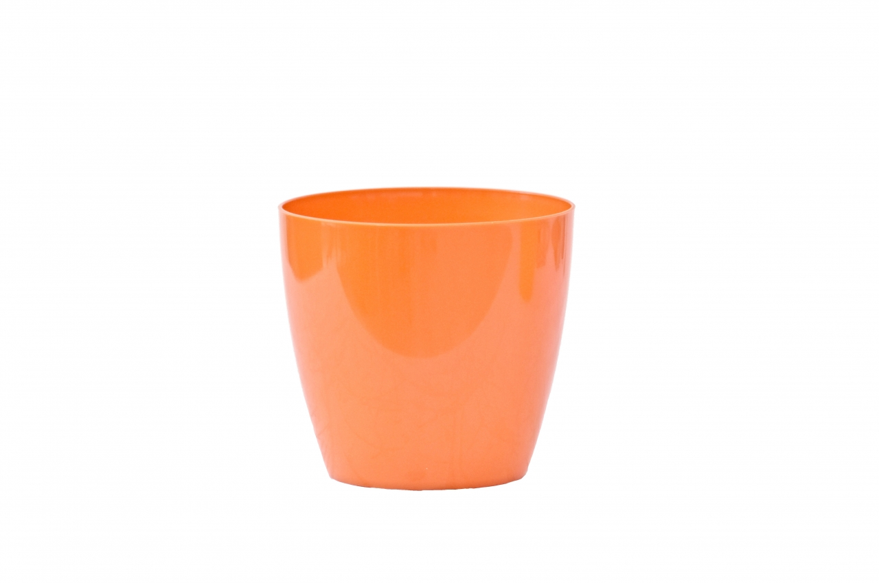 Plastový květináč Aga 95 mm, oranžový