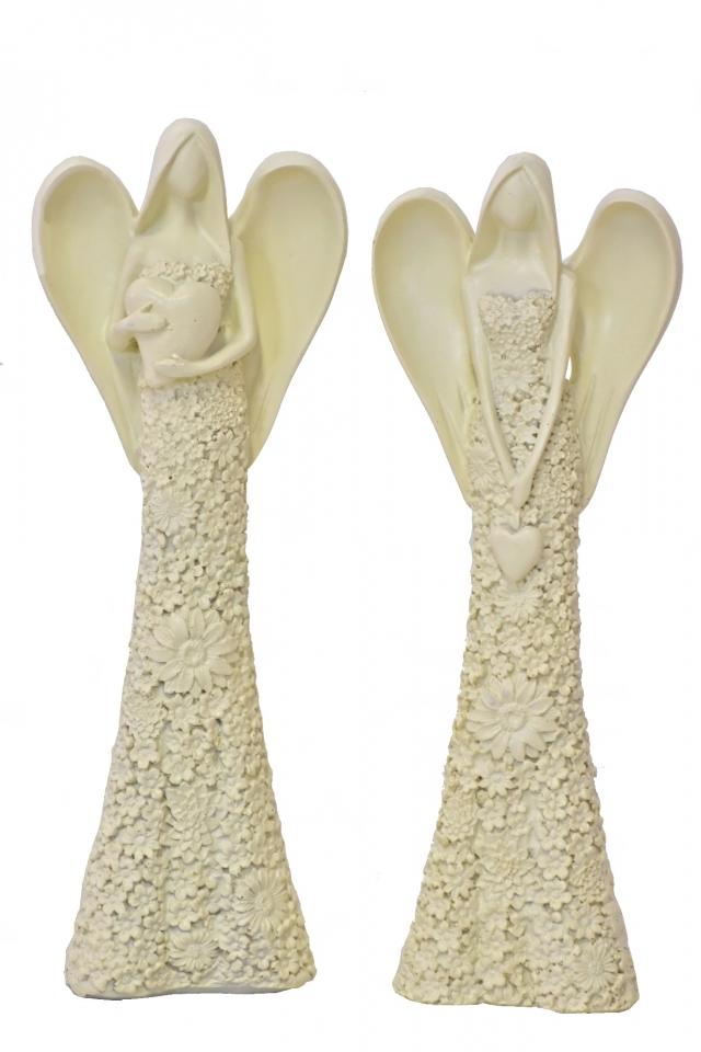 Anděl Flo krémový 24,5 cm, mix druhů