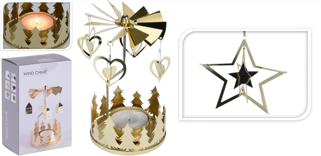 Andělské zvonění zlaté hvězda