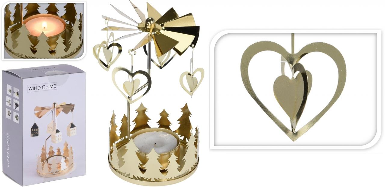 Andělské zvonění zlaté srdce