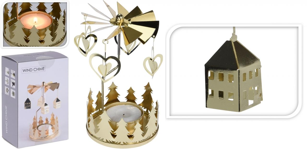 Andělské zvonění zlaté domek