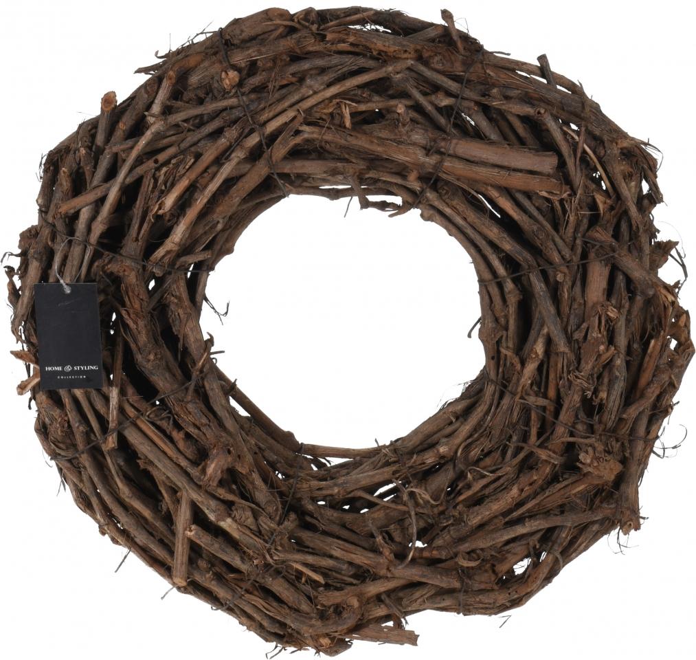 Proutěný věnec Natur, hnědý, 40cm