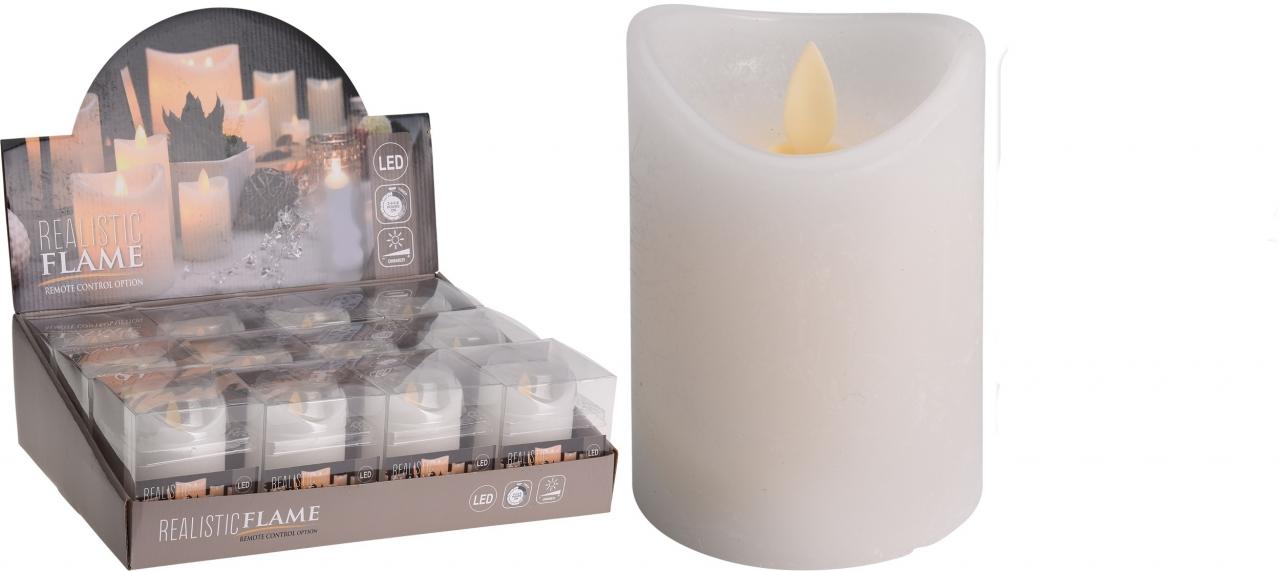 LED svíčka 10 cm s časovačem