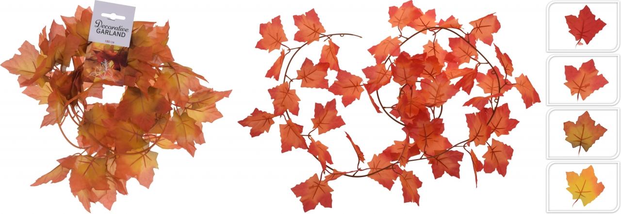 Girlanda podzimní listí 180 cm