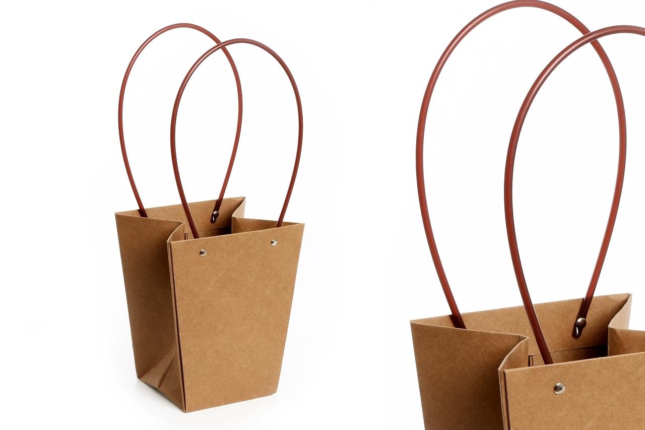Flower box taška L hnědá
