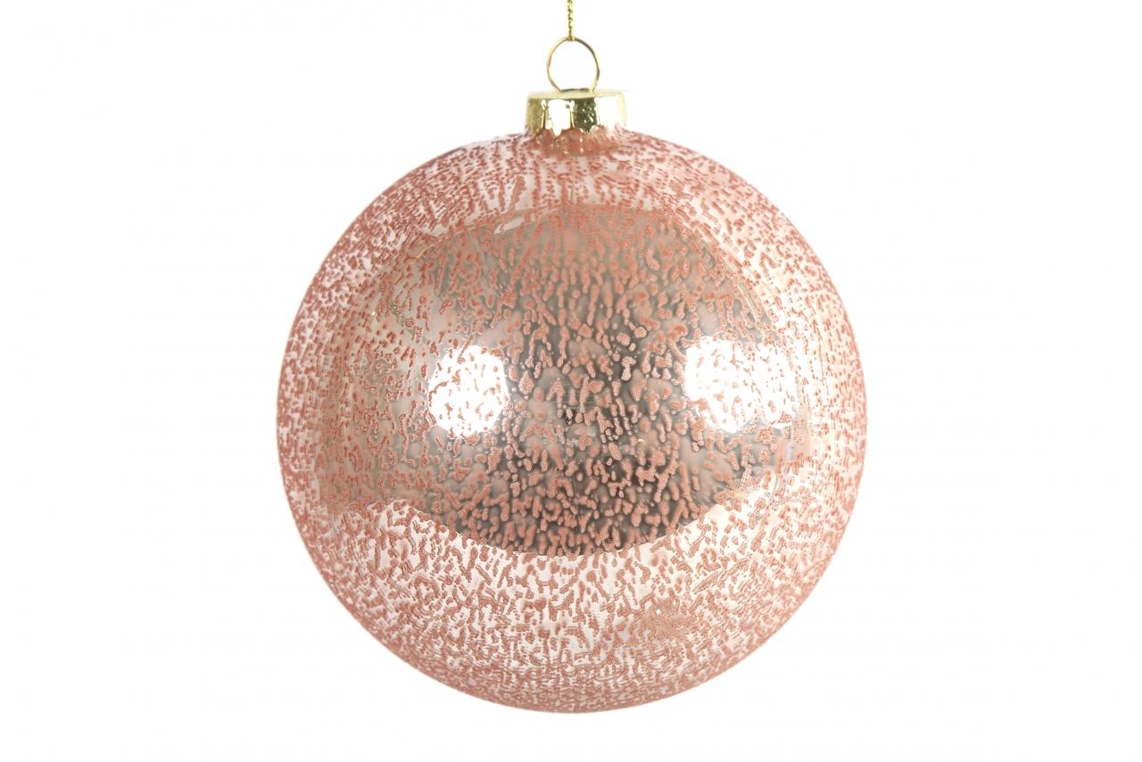 Růžová vánoční baňka Yana L