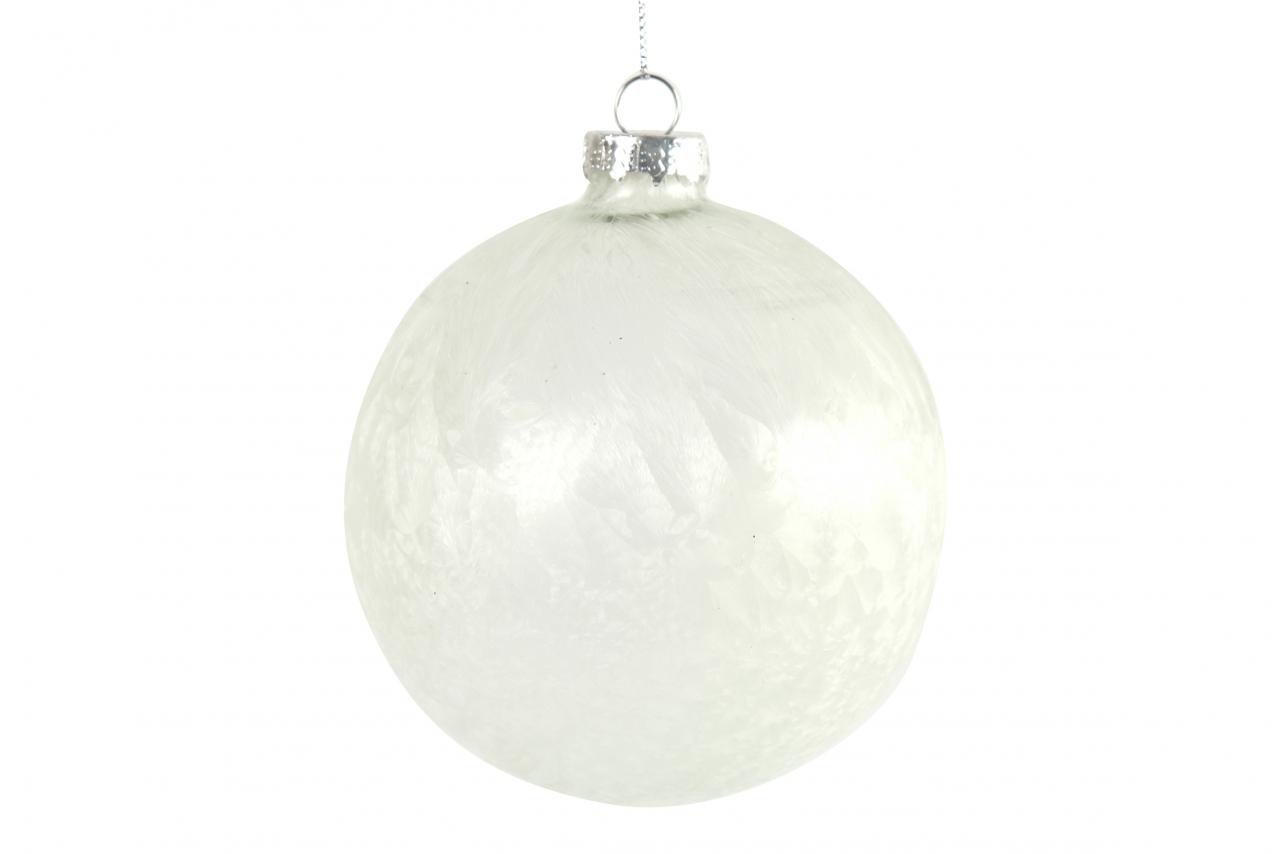 Bílá vánoční baňka Yana M