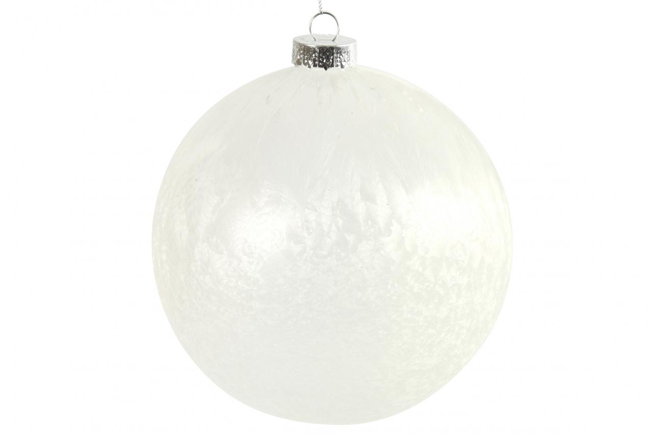Bílá vánoční baňka Yana XL