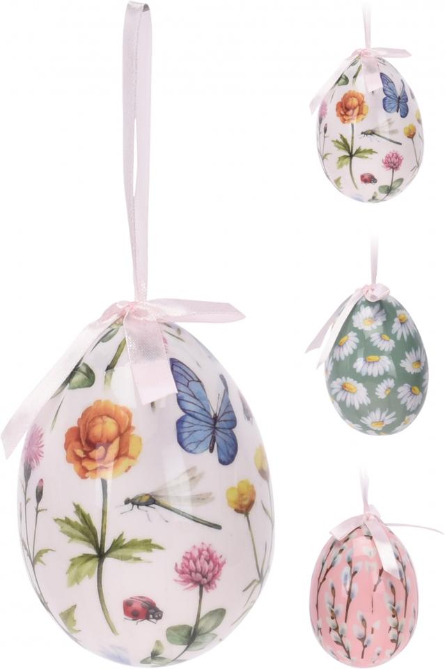 Velikonoční vajíčko Flowers  10x7 cm, mix druhů