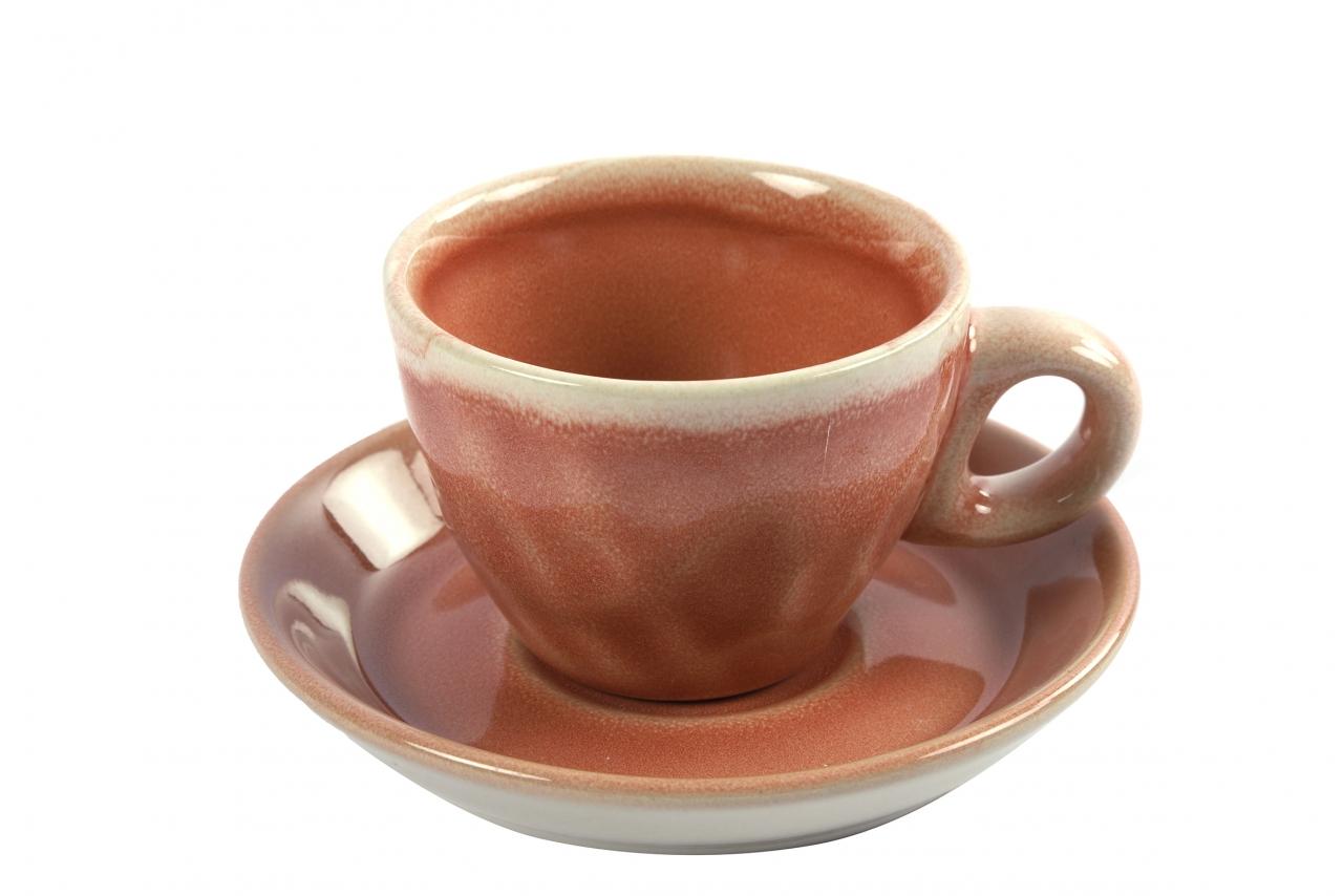 Hrnek s podtalířkem Carmen rosa espresso