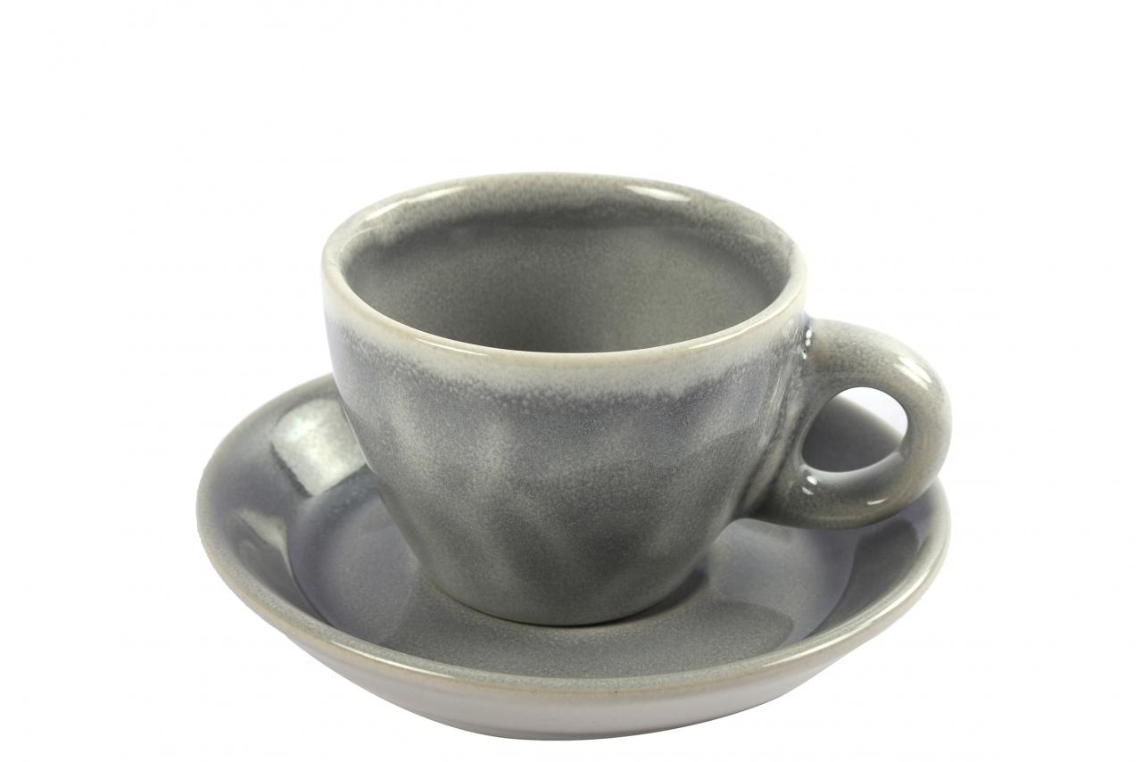 Hrnek s podtalířkem Carmen grey espresso
