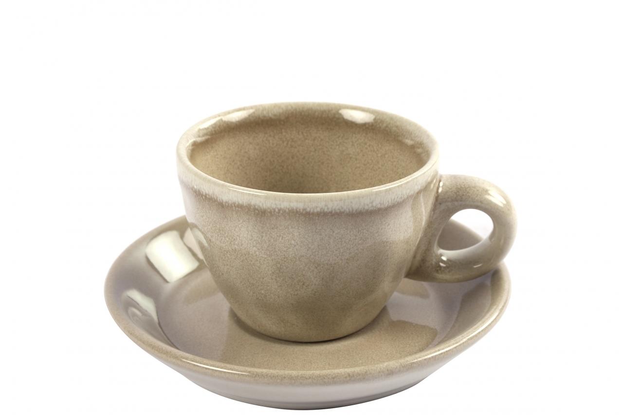 Hrnek s podtalířkem Carmen cream espresso