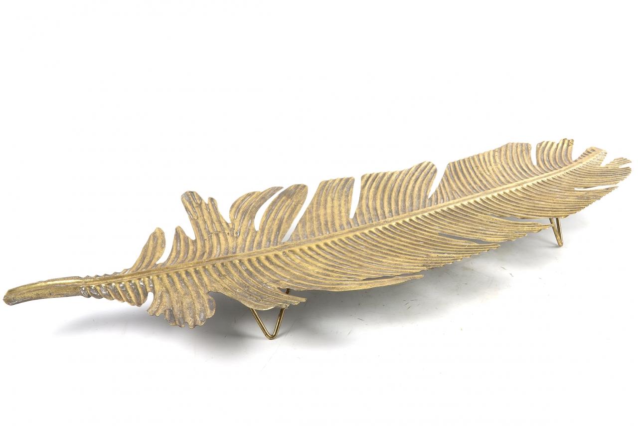 Kovový tác Paloma gold L