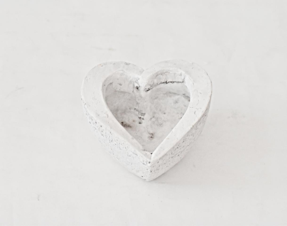 Květináč srdce 13x13x7,5 cm