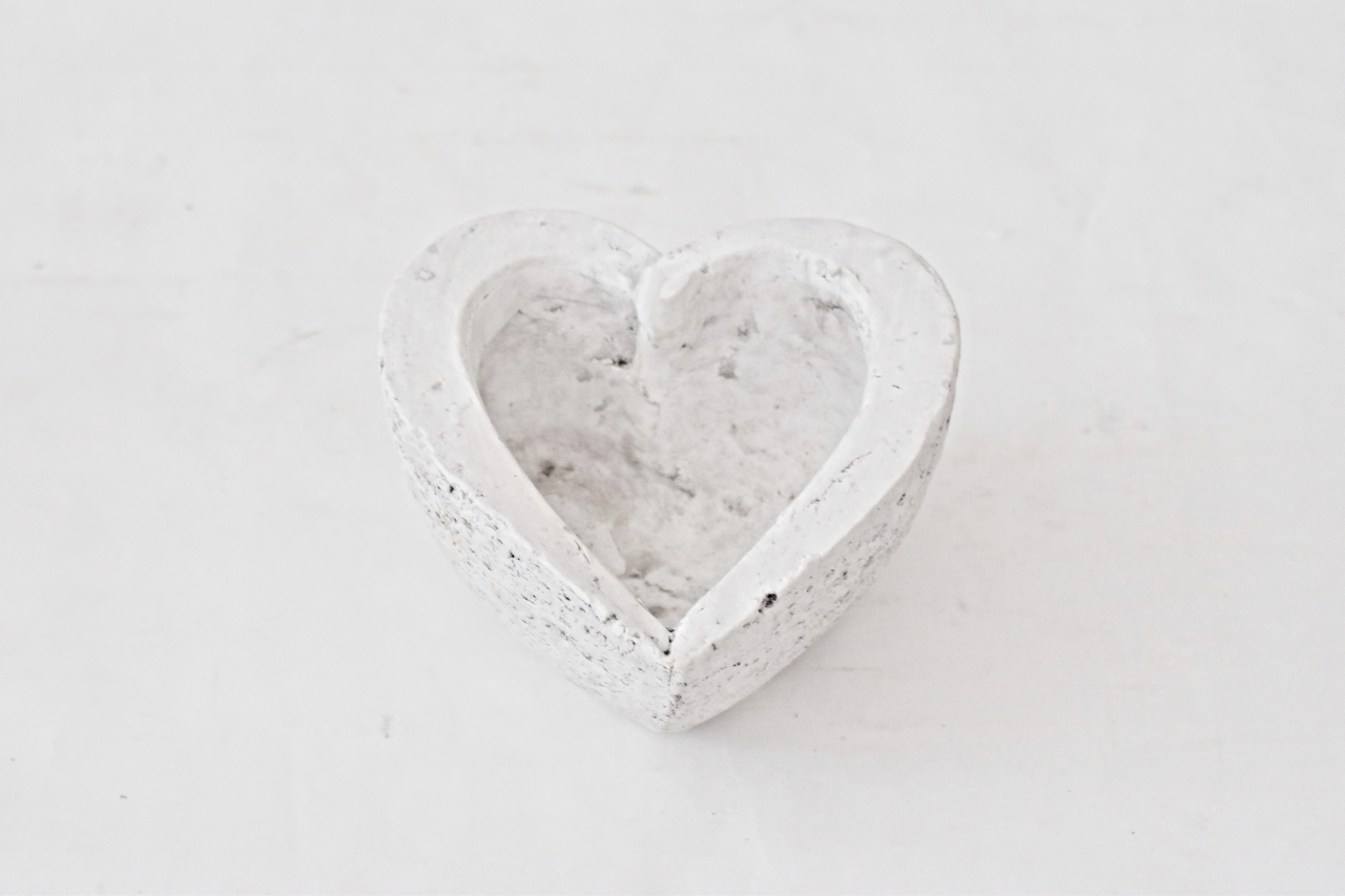 Květináč srdce 15,5x15,5x8,5 cm