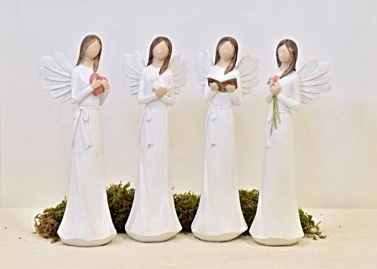 Anděl Remiel bílý 25 cm