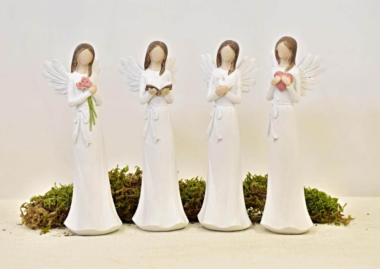 Anděl Remiel bílý 20 cm