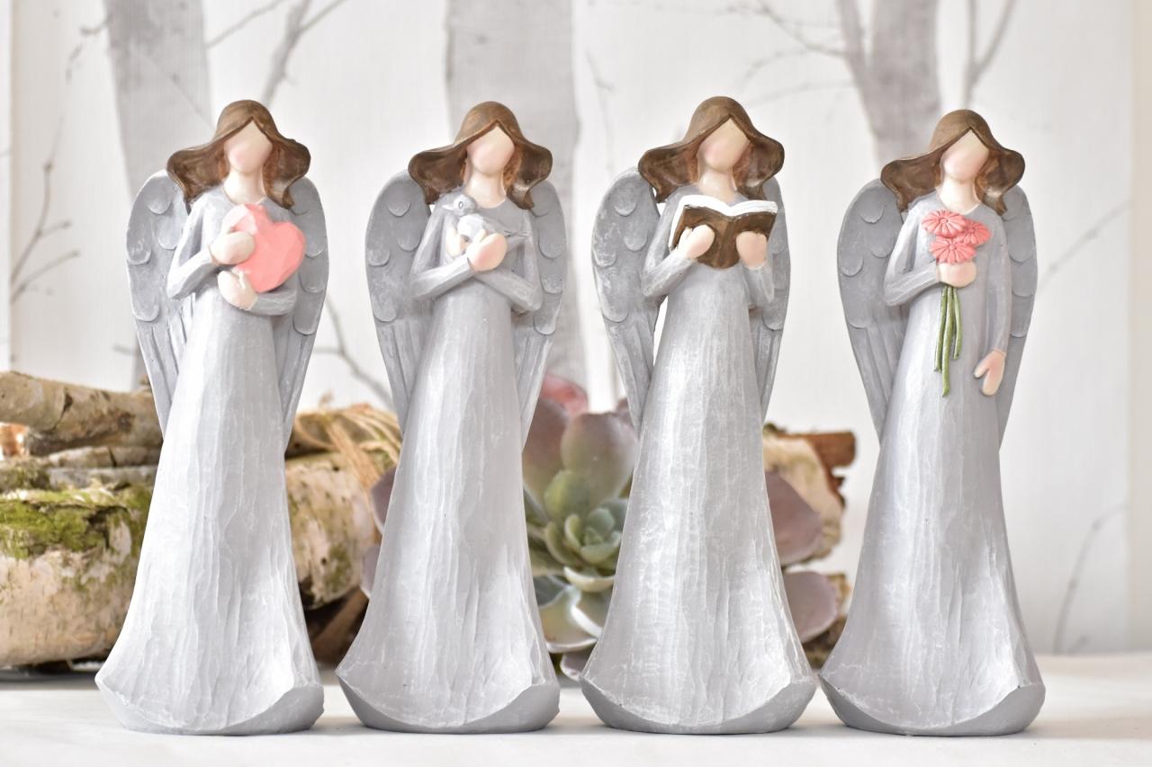 Anděl Pruel šedý 20 cm