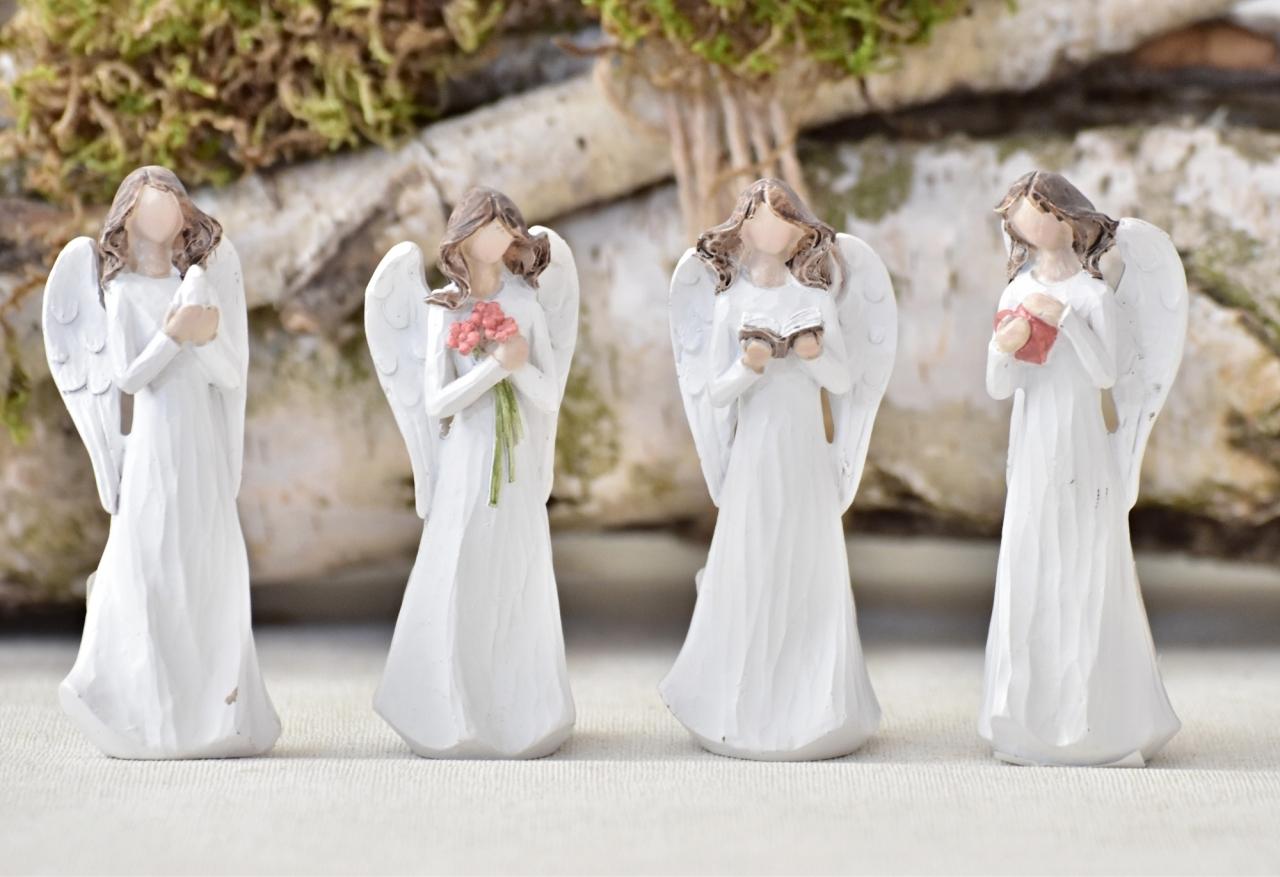 Anděl Pruel bílý 14 cm