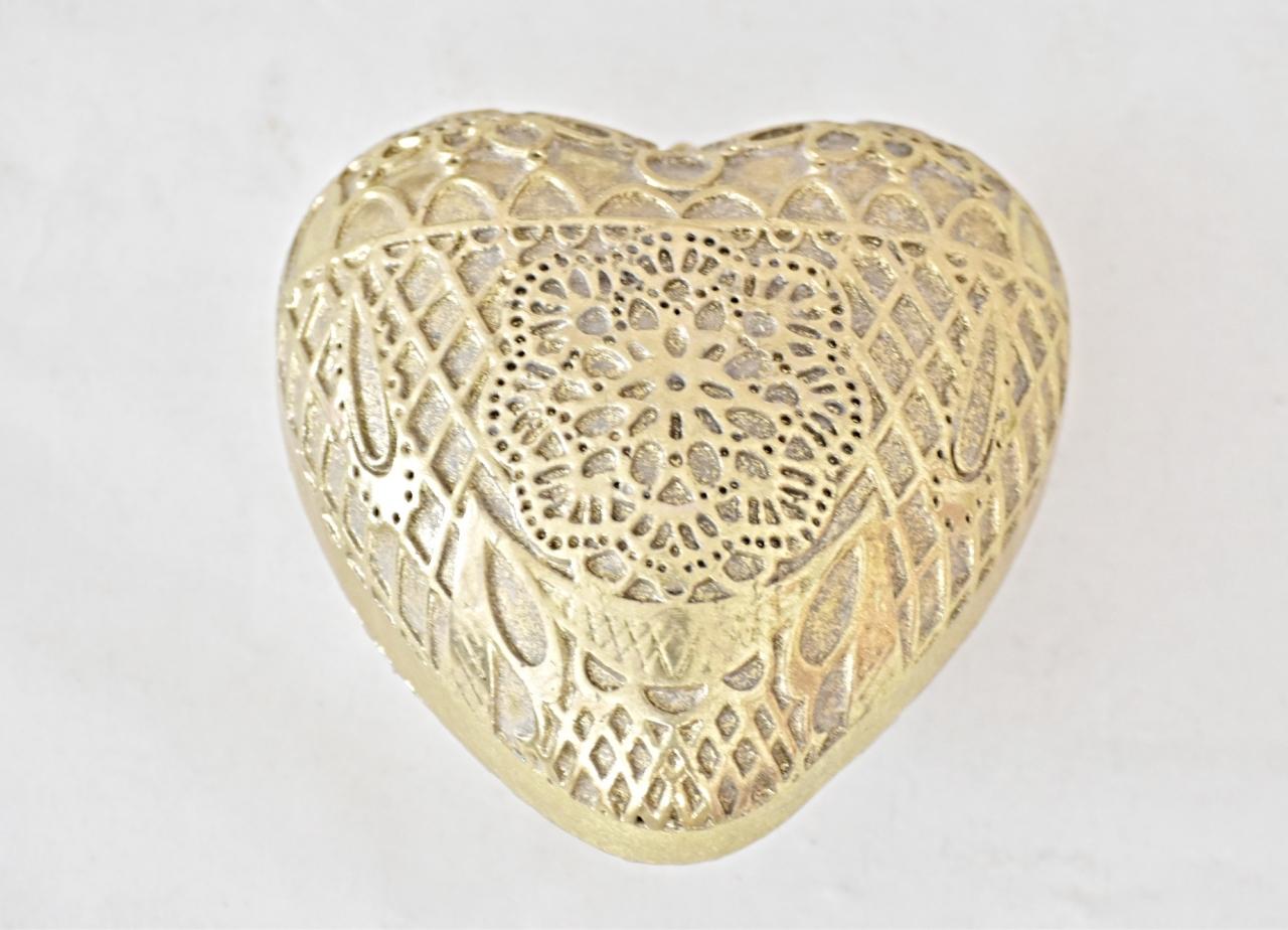 Dekorace srdce Ornament Gold XL