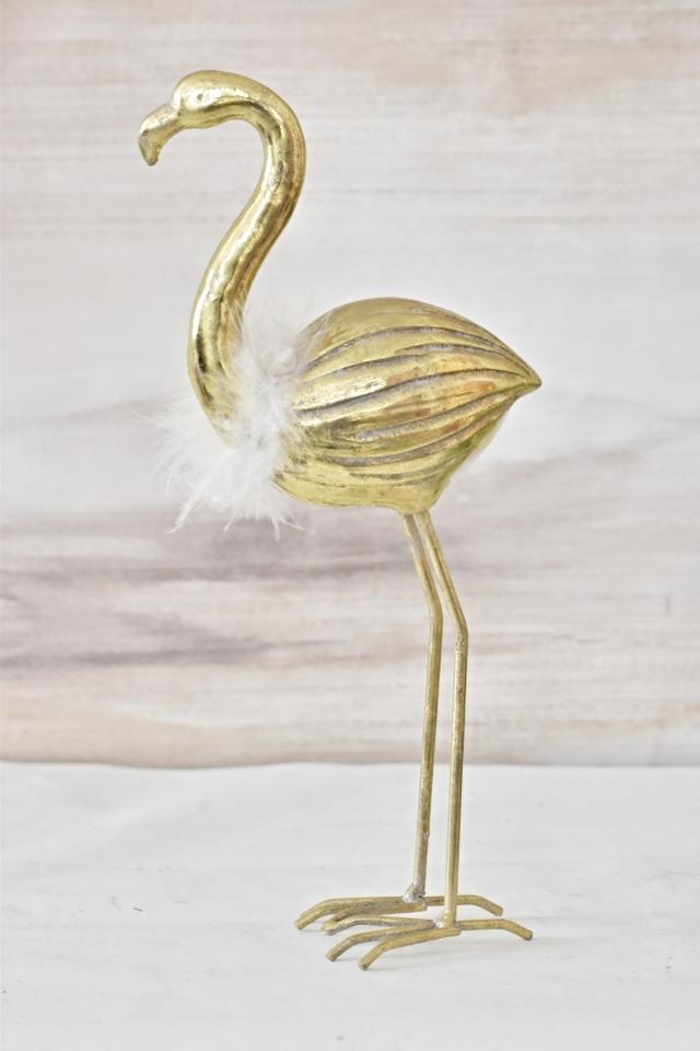 Plameňák Joe gold 34 cm