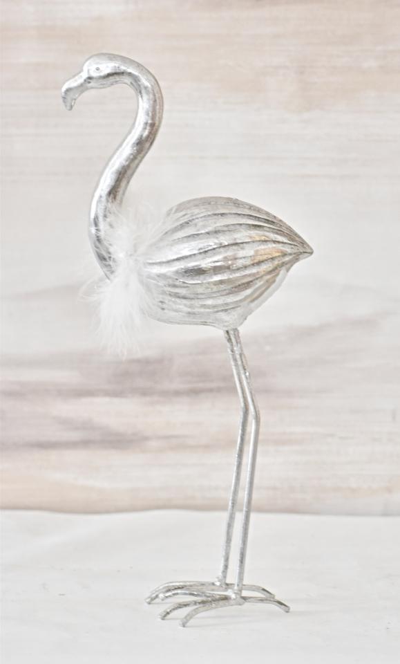 Plameňák Joe silver 18 cm