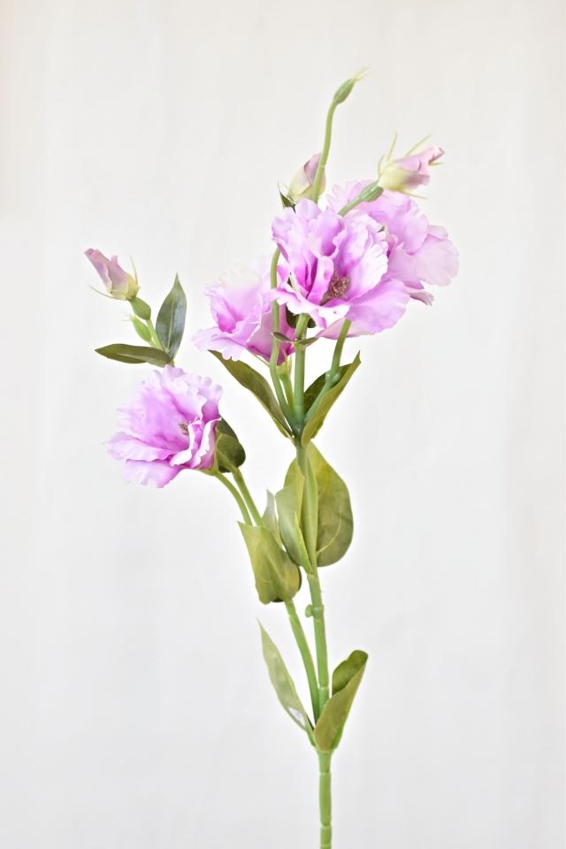 Umělá květina Eustoma 77 cm, růžová