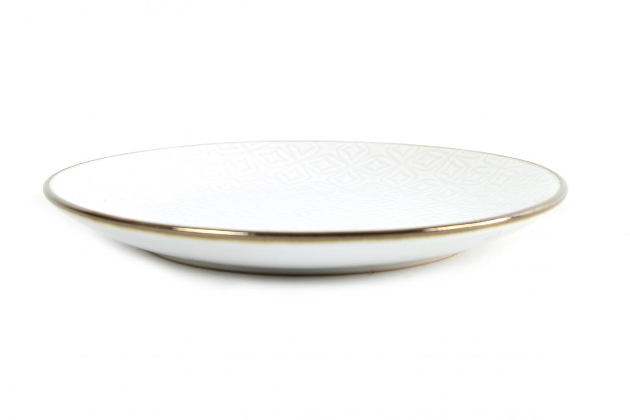 Keramický dezertní talíř Viola, bílý