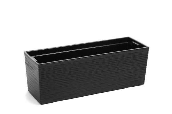 Plastový truhlík Begonie vroubek 190x560 mm, černý