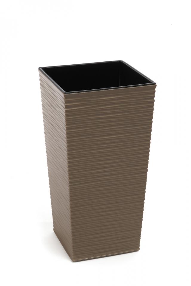 Plastový květináč Finezia vroubek 300x300 mm, frappe