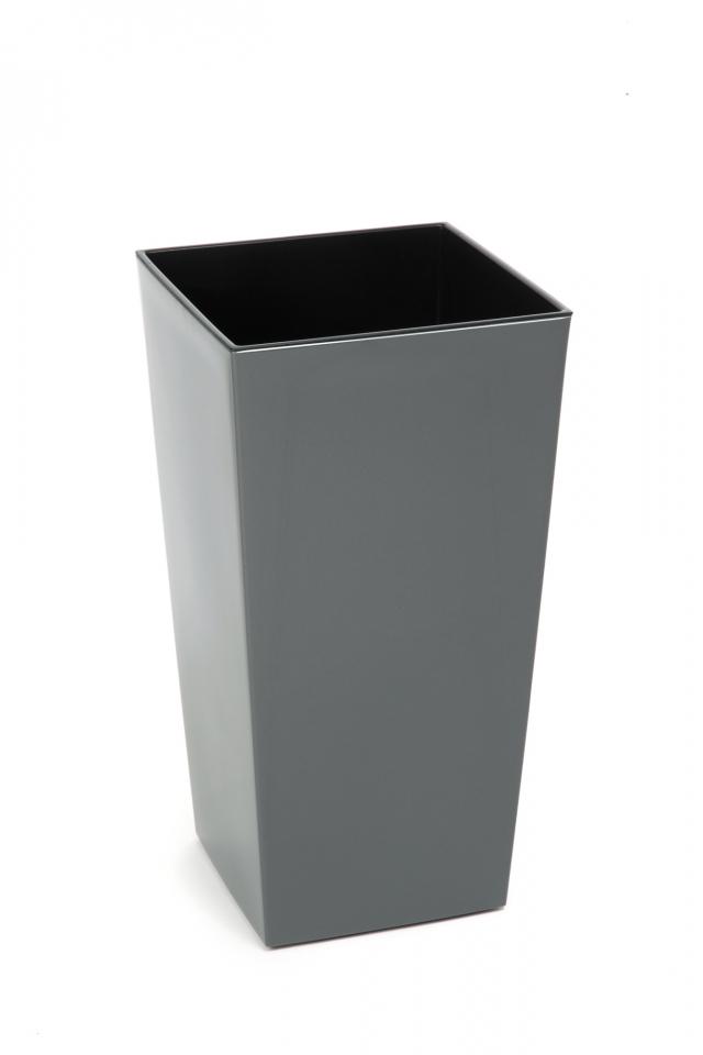 Plastový květináč Finezia 400x400 mm, antracit