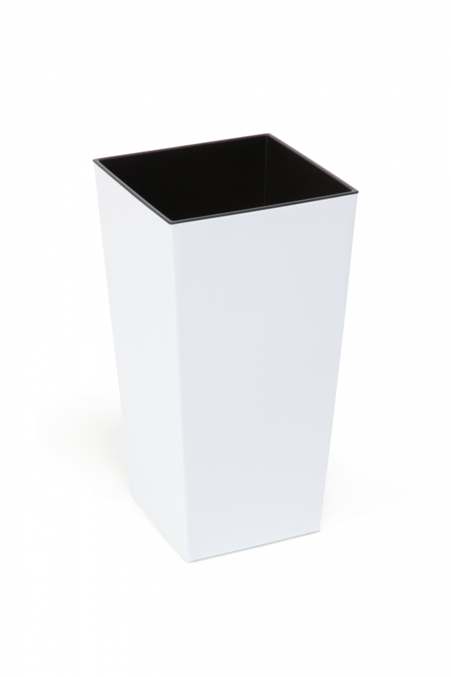 Plastový květináč Finezia 300x300 mm, bílý
