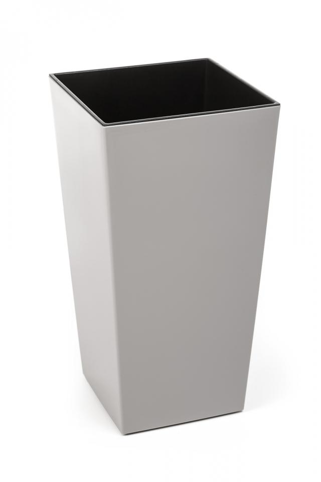 Plastový květináč Finezia 190x190 mm, taupe