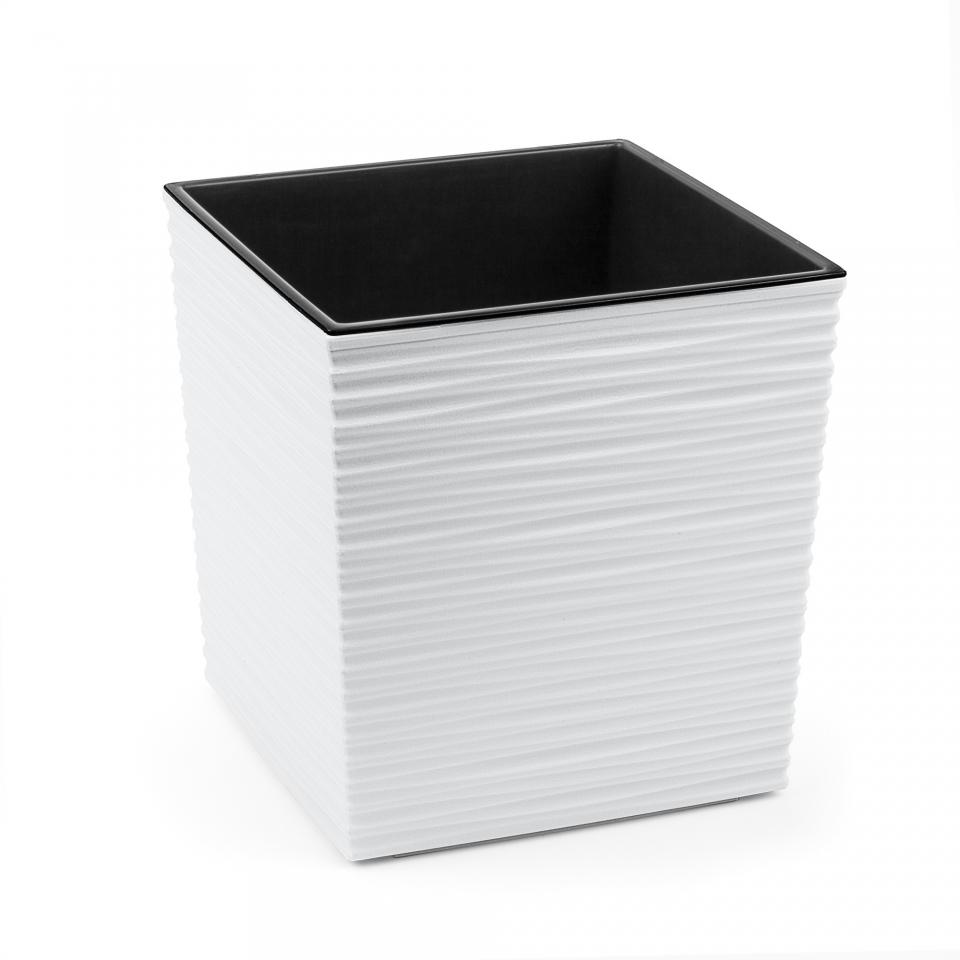 Plastový květináč Juka vroubek 250x250 mm, bílý