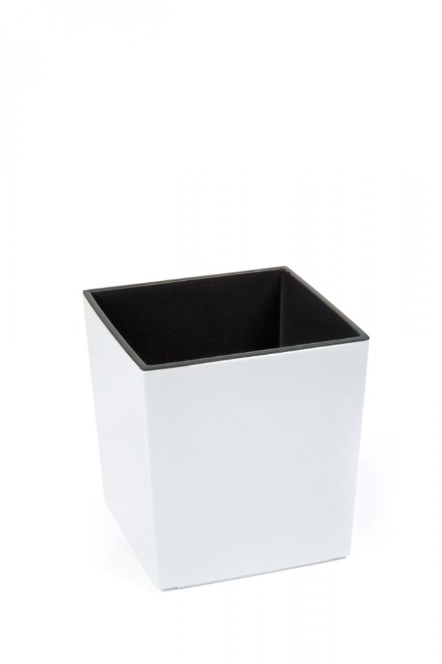 Plastový květináč Juka 400x400 mm, bílý