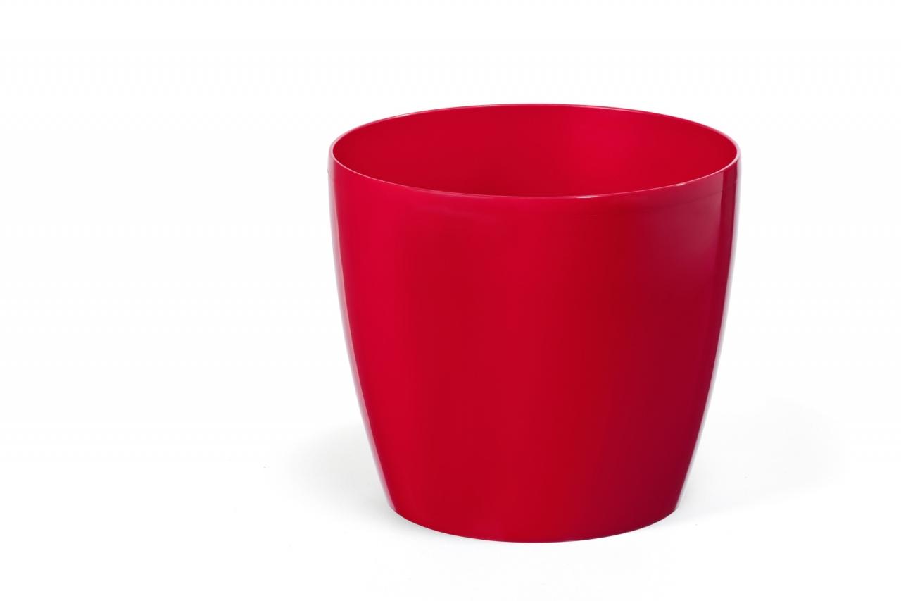 Plastový květináč Magnolie 180 mm, červený