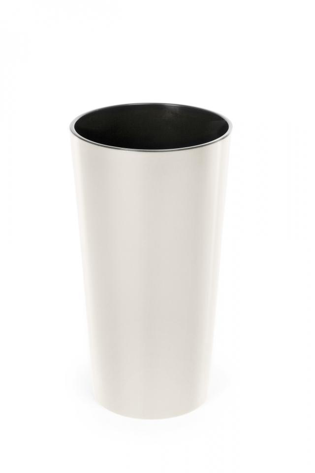 Plastový květináč Lilia 465 mm, krémový