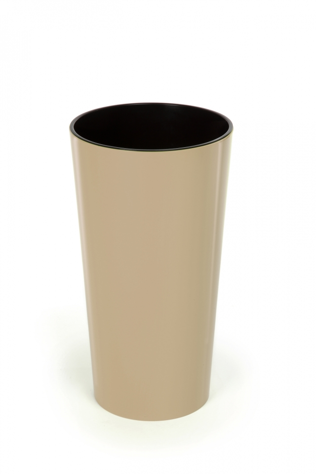 Plastový květináč Lilia 465 mm, cappuccino