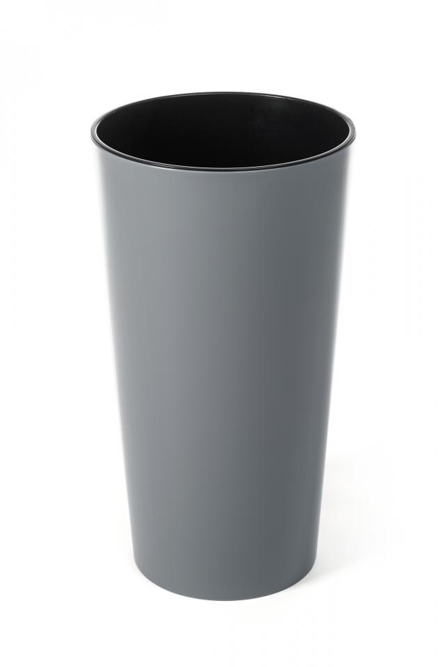Plastový květináč Lilia 570 mm, šedý