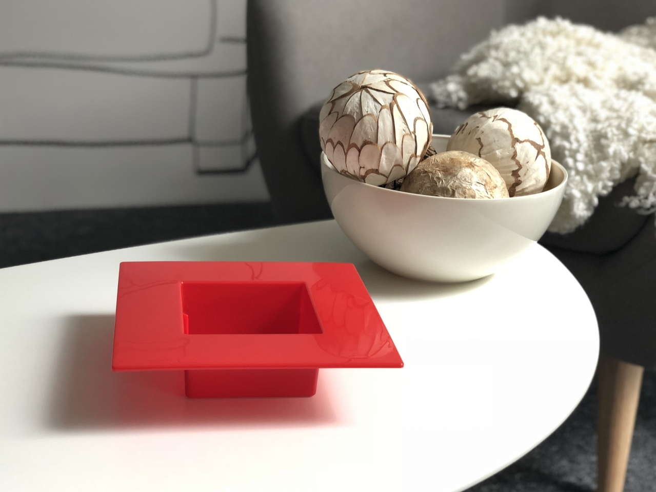 Ikebana 190 x 190 mm, červená